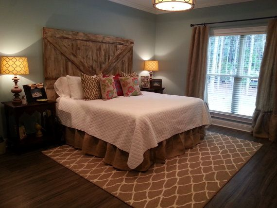 Rustic Burlap bed skirt by everythingburlap on Etsy