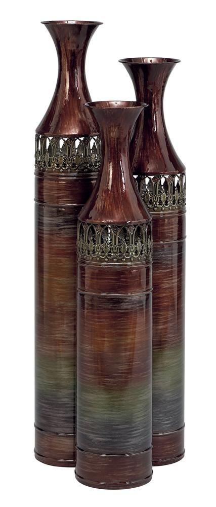 Tall Slender Floor Vases - Set of 3