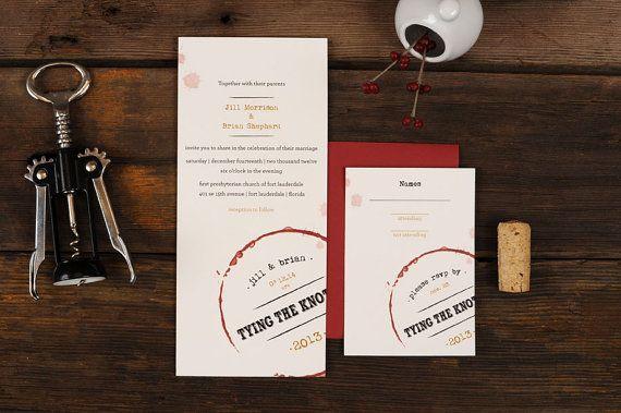 Wine Wedding Invitations  Vino Stain Vineyard by ruffhouseart, $3.00