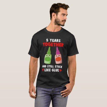 5 Year Together. 5th Anniversary Shirt For Couple  $25.70  by AnniversaryAndAge  - custom gift idea
