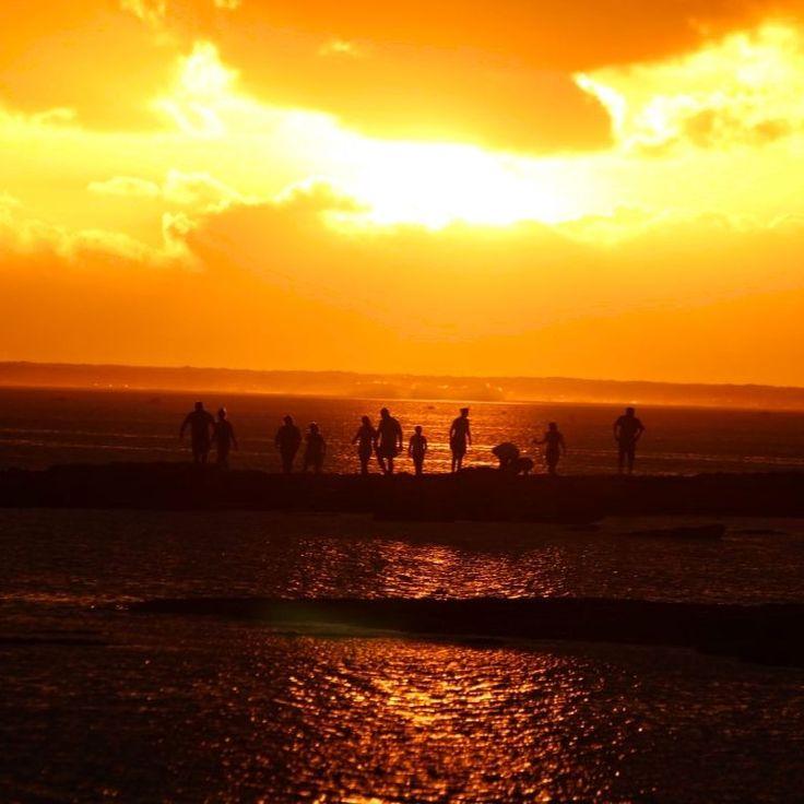 People watching and enjoying another Fijian sunset.