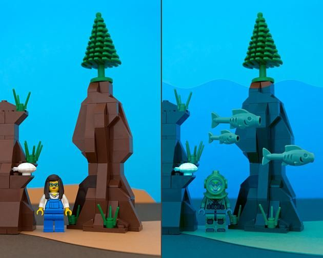 LEGO Canada provinces - New Brunswick - If you don't like the water level just wait five minutes.
