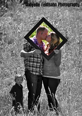 pink or pastel frame for birthday guest pictures.