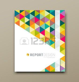 page couverture: rapport de couverture triangle coloré motif géométrique de conception de fond Illustration
