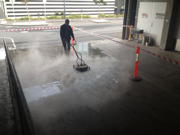 Here we are washing a loading bay after hours.