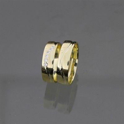 Svadobné obrúčky žlté zlato MS690
