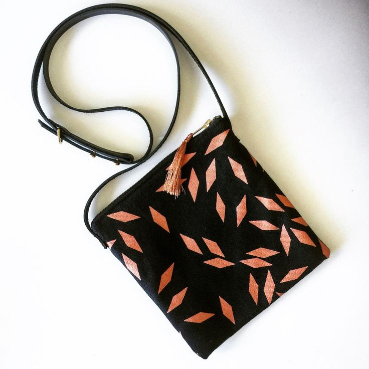 NEW - Hemp and Organic Cotton Crossbody Bag. Only one available!