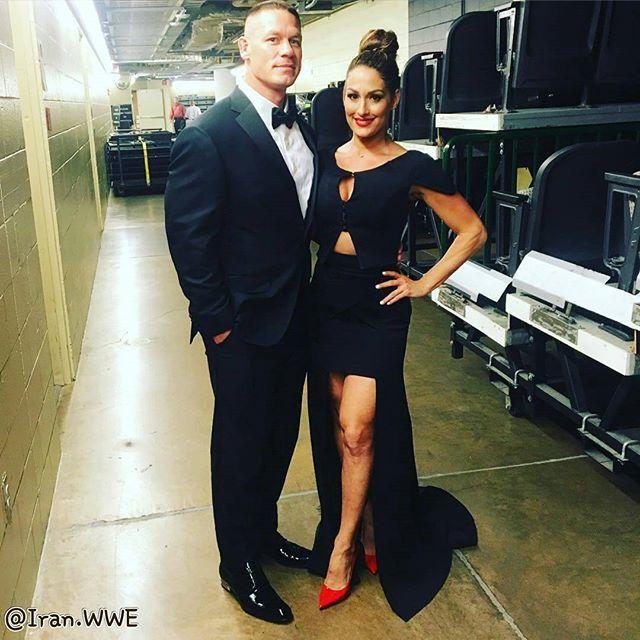 WWE Superstar John Cena and his girlfriend WWE Diva Nikki Bella at the 2016 WWE…