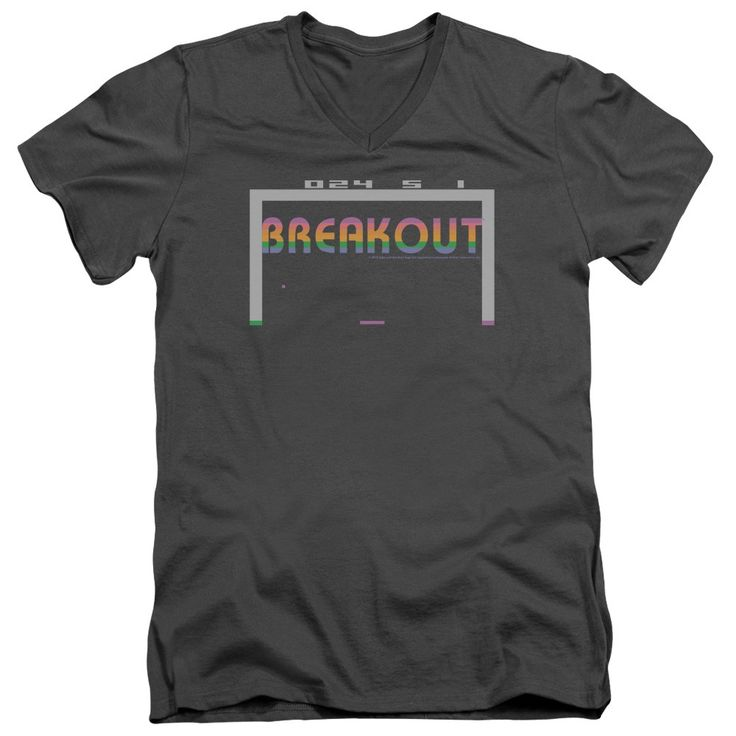 "Checkout our #LicensedGear products FREE SHIPPING + 10% OFF Coupon Code ""Official"" Atari / Breakout 2600-short Sleeve Adult V-neck 30 / 1 - Atari / Breakout 2600-short Sleeve Adult V-neck 30 / 1 - Price: $34.99. Buy now at https://officiallylicensedgear.com/atari-breakout-2600-short-sleeve-adult-v-neck-30-1"