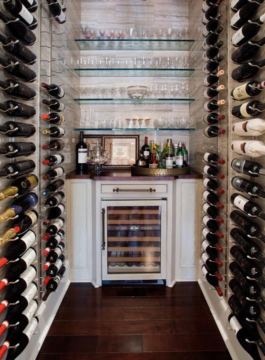 Travertine Wine Room