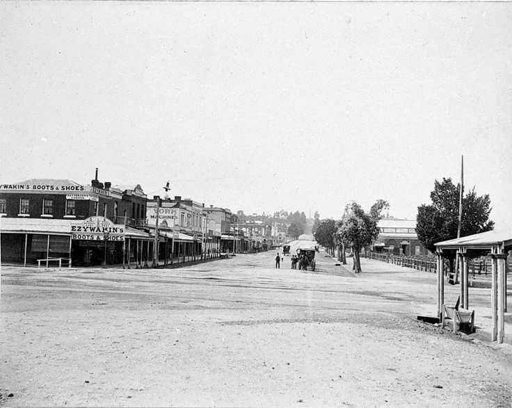 Castlemaine Australia 1800s Mostyn st looking East