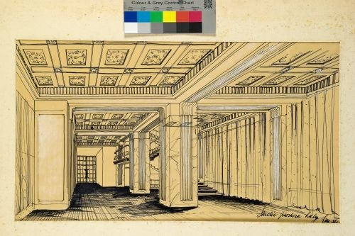 Part of the architectural drawings of the public areas.