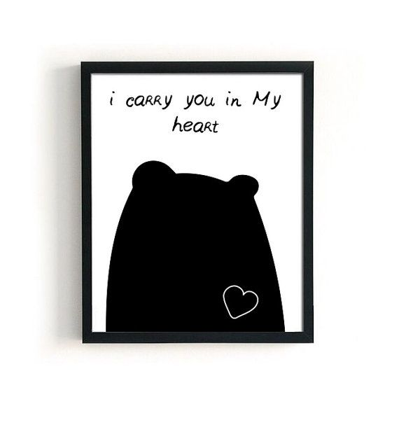 Scandinavian nursery print You in my heart ALL by 72PaperPlanes