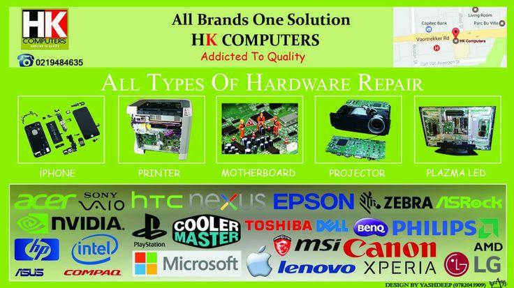 Laptops, Printers, Projectors, Smart phones, Graphics Cards, Playstation, PSP Repairs, Smart TVs, All in One PC's, Macintosh,Macbook, Medical equipment