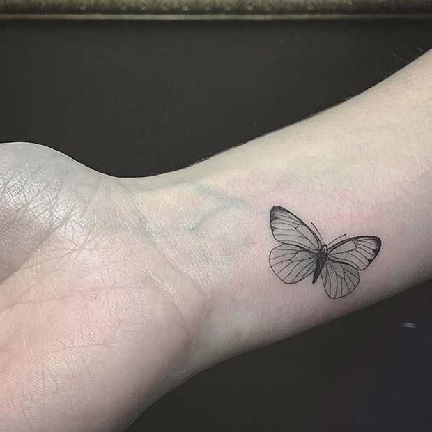 21 Tattoo Ideas For Women Who Love Minimalism Beautytatoos In 2020 Butterfly Tattoo Butterfly Tattoos For Women Butterfly Tattoo Designs