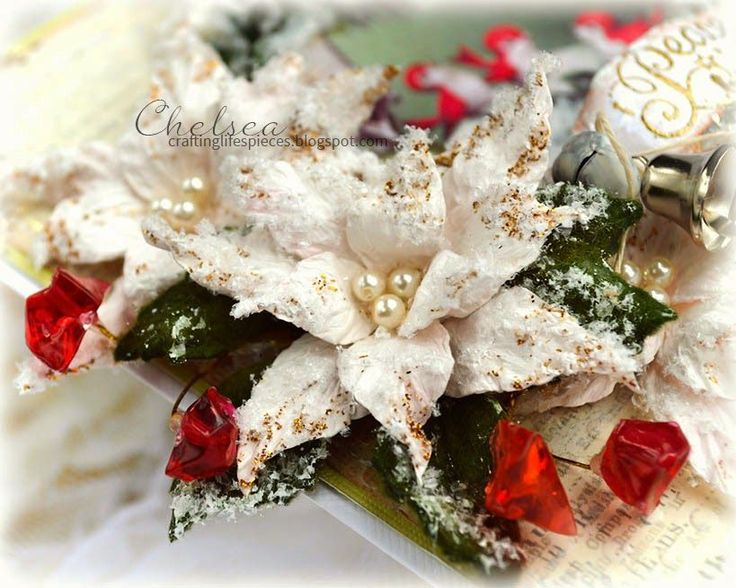 Crafting Life's Pieces: Christmas Card - Poinsettia Flower Tutorial
