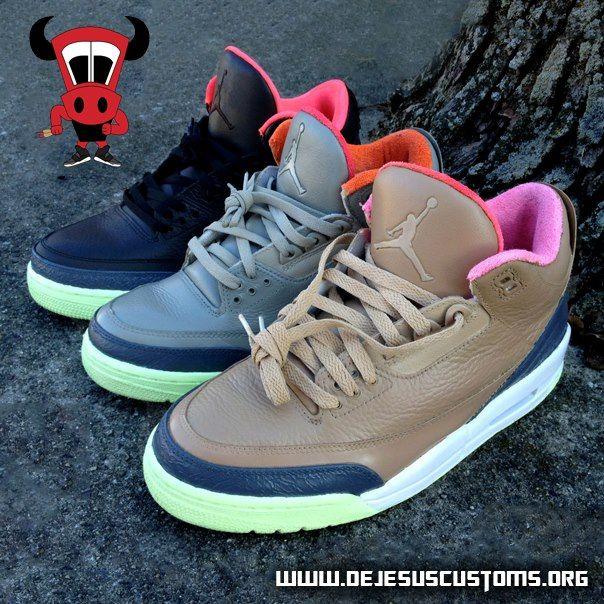 Air Jordan Threezy Pack Customs 2