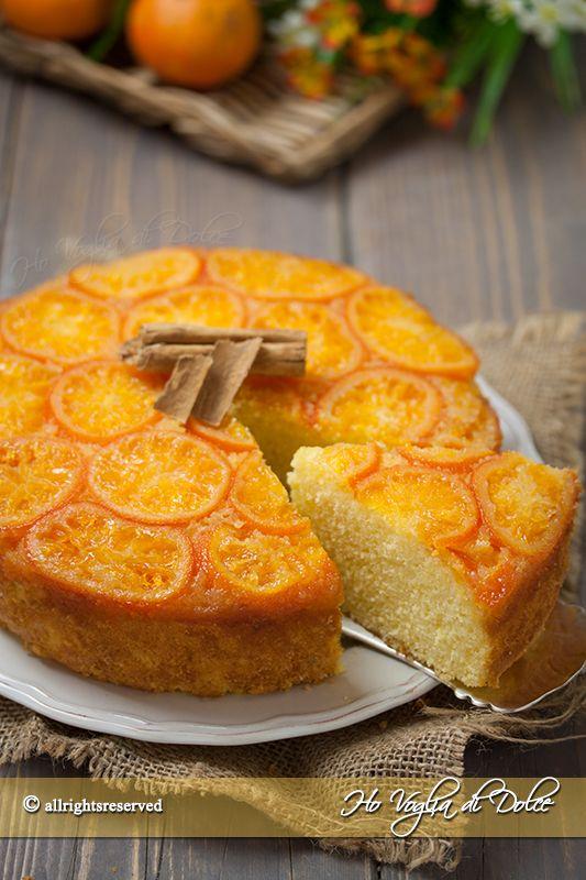 Torta rovesciata di mandarini un dolce soffice bello e buono da gustare. Una ricetta perfetta per la colazione e la merenda, particolare e d'effetto.