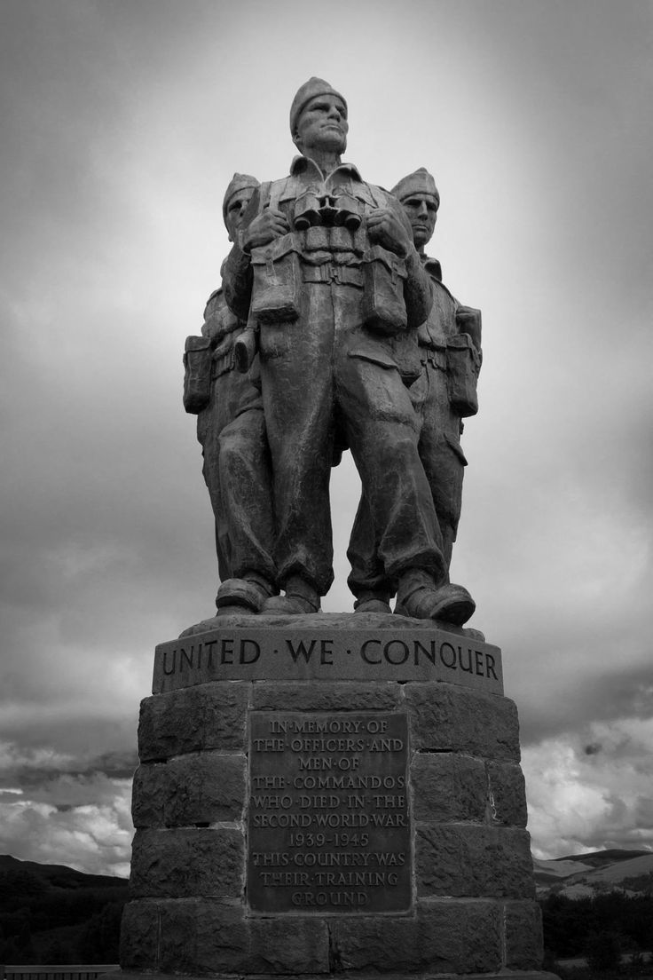 Remembering the fallen. The Commando Monument at Spean Bridge Scotland
