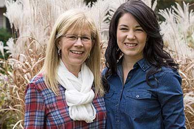 Karen and Kelly Sarlo. Mother and daughter team.