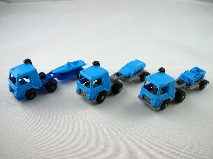 Ferrero Autos EU 1986 Transporter Mit Auflieger Blau Silber RAR Alt | eBay