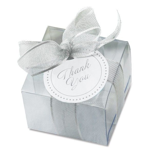 Clear Favor Boxes Kit