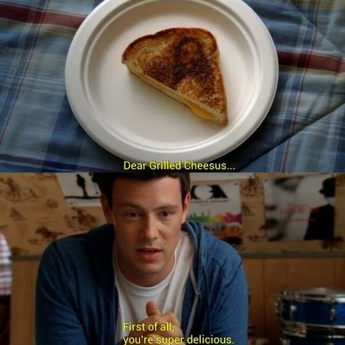 To celebrate the season two premiere, we made Grilled Cheesus sandwiches. No lie.