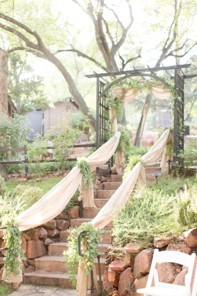 Wedding stairs at Arizona venue in the Forest