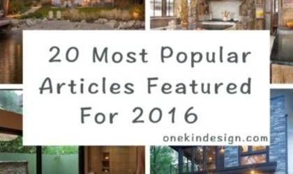 20 Most popular articles featured on One Kindesign for 2016