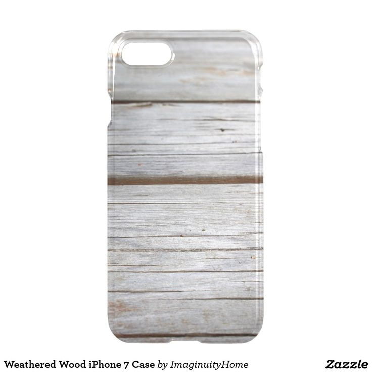 Weathered Wood iPhone 7 Case: Rustic image of old weathered wood. This protective case is a great way to enjoy and protect your new iPhone 7!