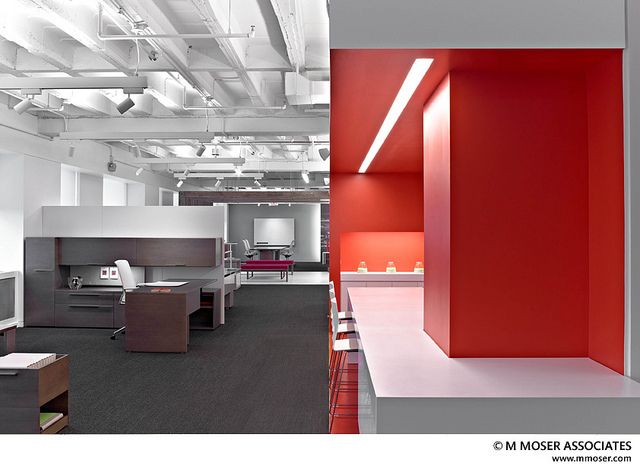 Orange / Black / White Office Design