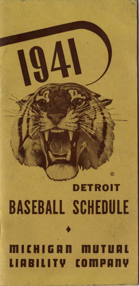 1941 Detroit Tigers baseball schedule