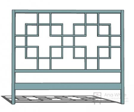 Headboard DIY~ step-by-step directions and diagrams. You could also make this same pattern with cedar strips for an outdoor trellis...very cool!