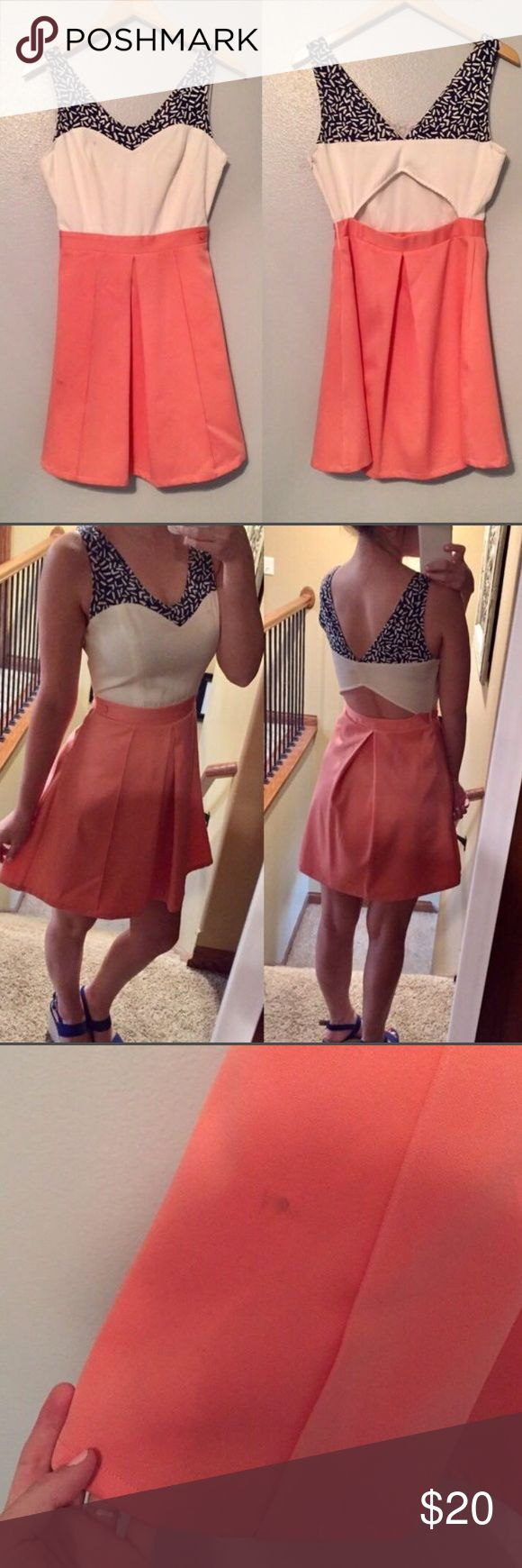 Apricot Lane Boutique Dress Please see third picture, small stain • Great condition • Cutout back • [Willing to trade] Francesca's Collections Dresses