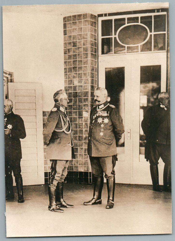 Kaiser Wilhelm II and General Field Marshall Paul von Hindenburg