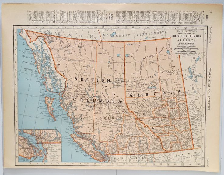 50 best vintage maps images on pinterest decoracin de paredes vintage map of british columbia and alberta vintage map of saskatchewan and manitoba on reverse side classroom decor wall decor gumiabroncs