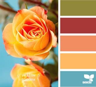 Bathroom colors #oranges