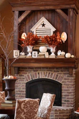 fireplace mantle....stain or paint