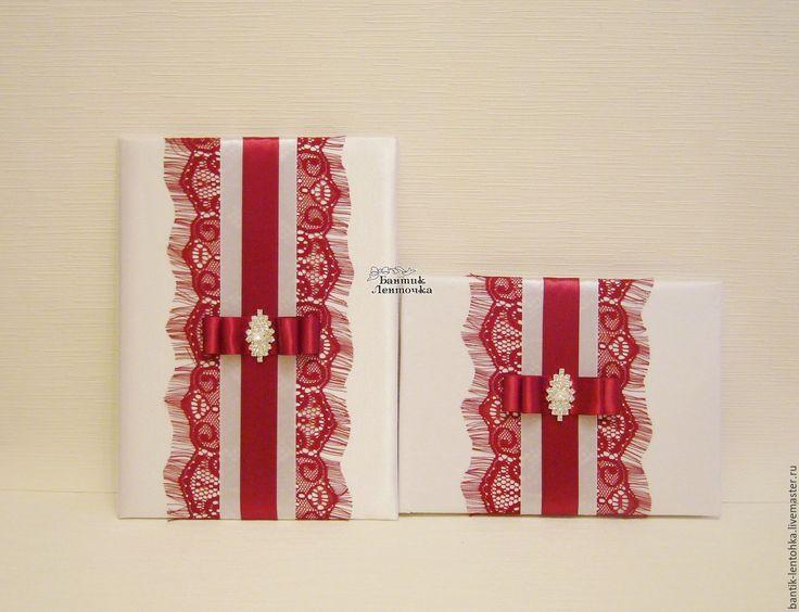 """Купить Книга пожеланий и папка для свидетельства о браке """"Бордо"""" - свадебные аксессуары, свадебные бокалы"""
