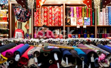 silk shop seller