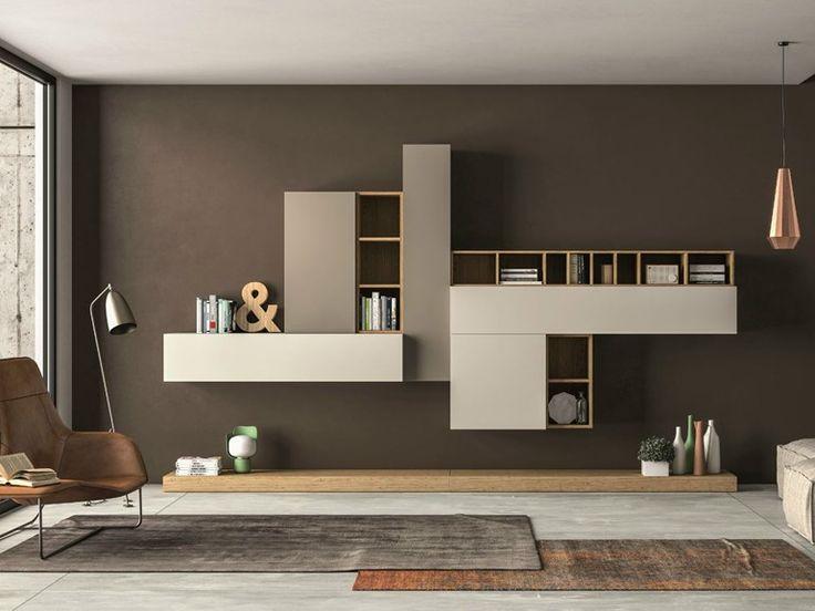 Parete attrezzata componibile SLIM 104 Collezione Slim by Dall'Agnese | design Imago Design, Massimo Rosa