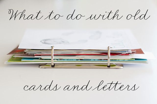 What to do with old cards and letters — Foutch Coutch