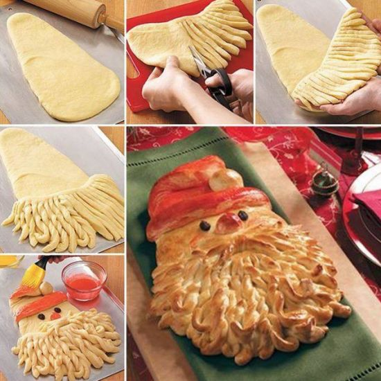Santa Bread Step By Step Recipe And Youtube Video | The WHOot