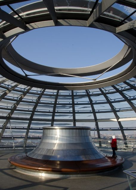 Inside the top of the Reichstag, Berlin, Germany