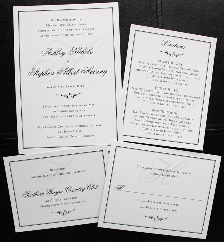 31 Best Images About Simple Wedding Invitations On