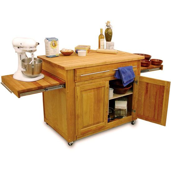 Display.  Catskill Kitchen Island with Pull-Out Leaves. #kitchensource #followerfinds