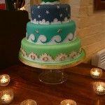 The Owl and the Pussycat wedding cake  www.thelittlevillagecakery.co.uk