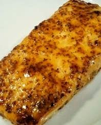 Salmon with Brown Sugar Glaze ~ This is my favorite recipe! I make this way too often. It's quick and easy! I serve this with rice and broccoli.