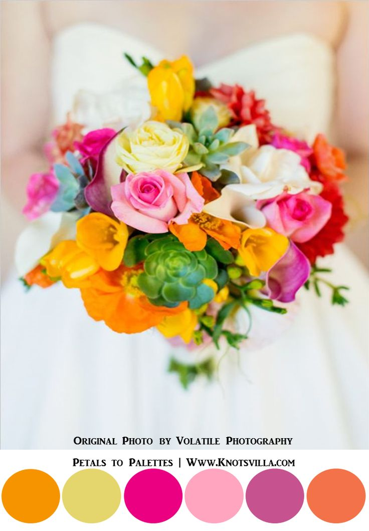 Vibrant and Colorful Bouquets: 15 Most Colorful Wedding Bouquets So Far » KnotsVilla