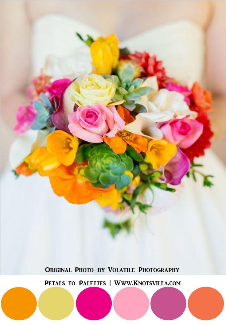 Vibrant and Colorful Bouquets: 15 Most Colorful Wedding Bouquets So Far » KnotsVilla